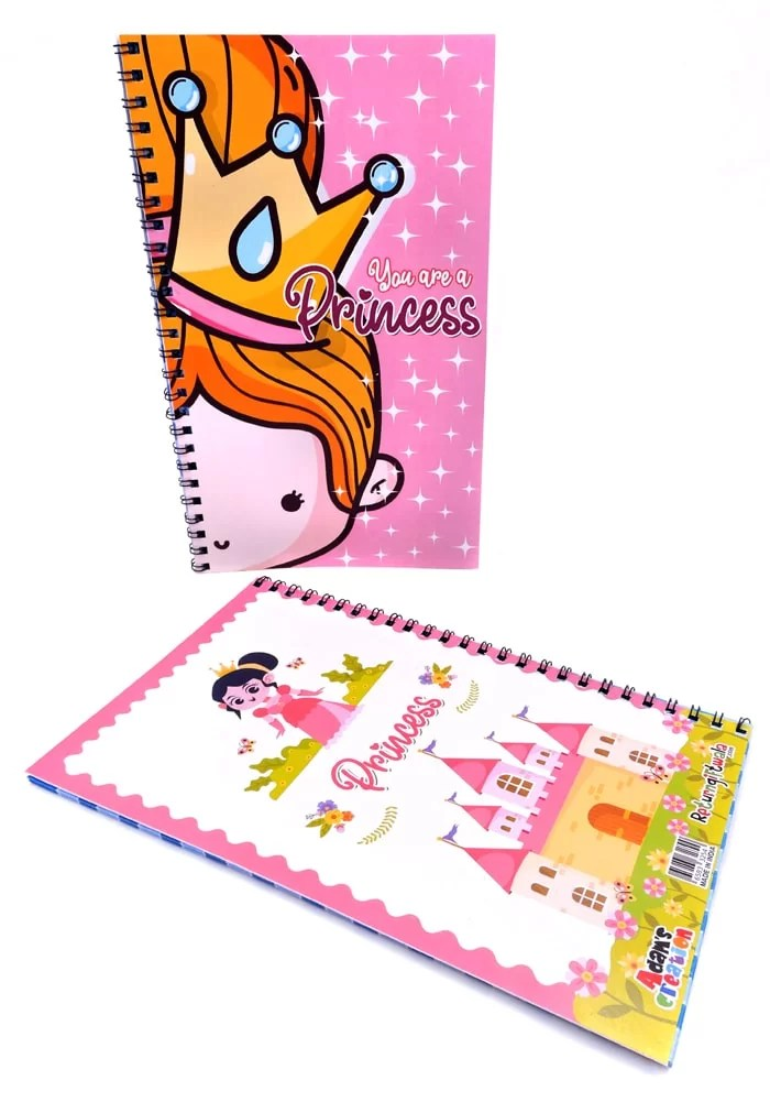 princess theme diary for return gifts