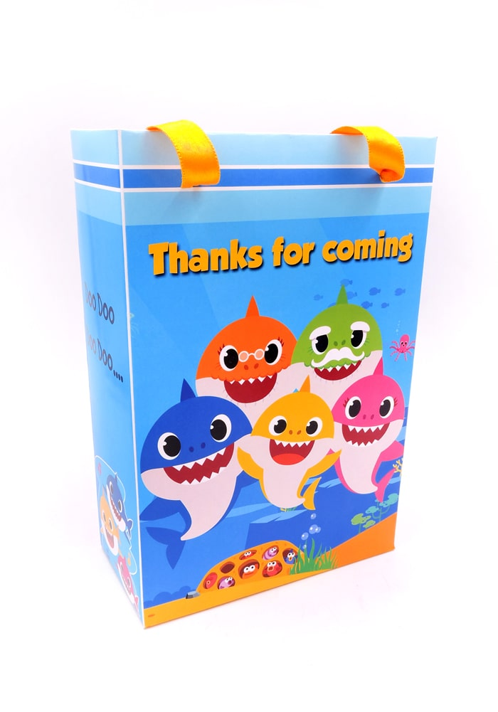 baby shark theme paper bag for gifts