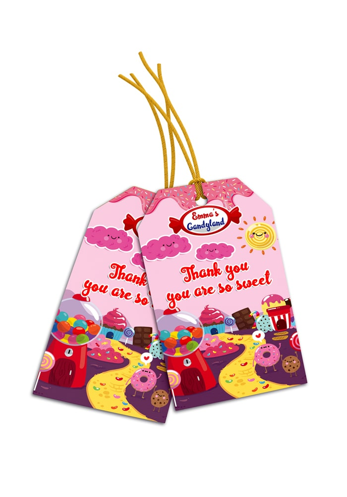 candy land theme thank you cards