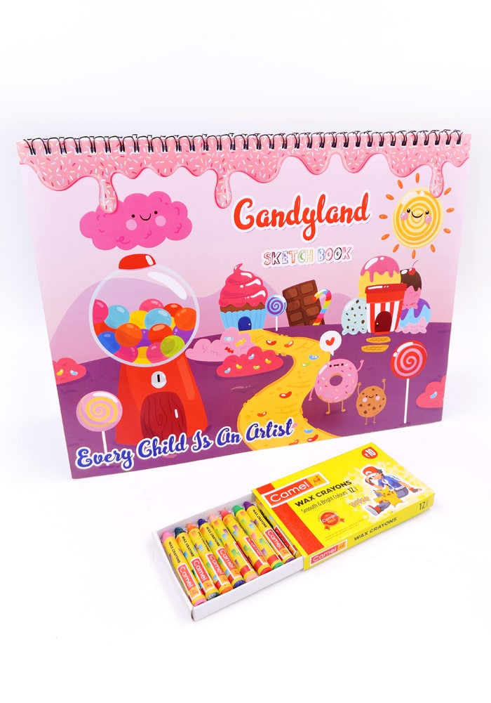 candy land theme party favor return gifts drawin book