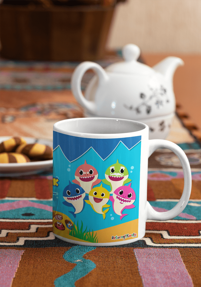 Baby shark theme party ideas coffee mug for kids