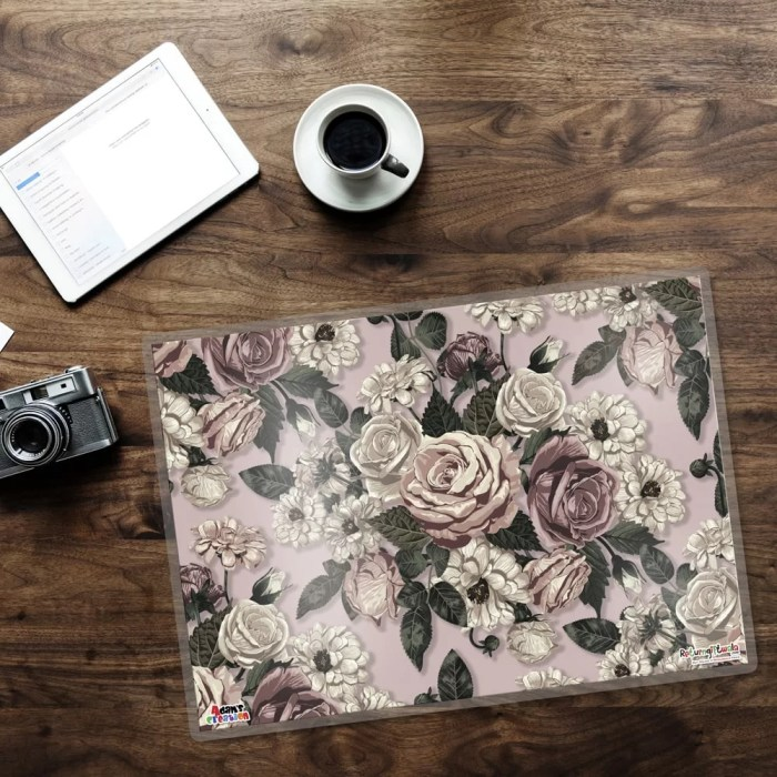 rose mats dinign placemats table mats-min