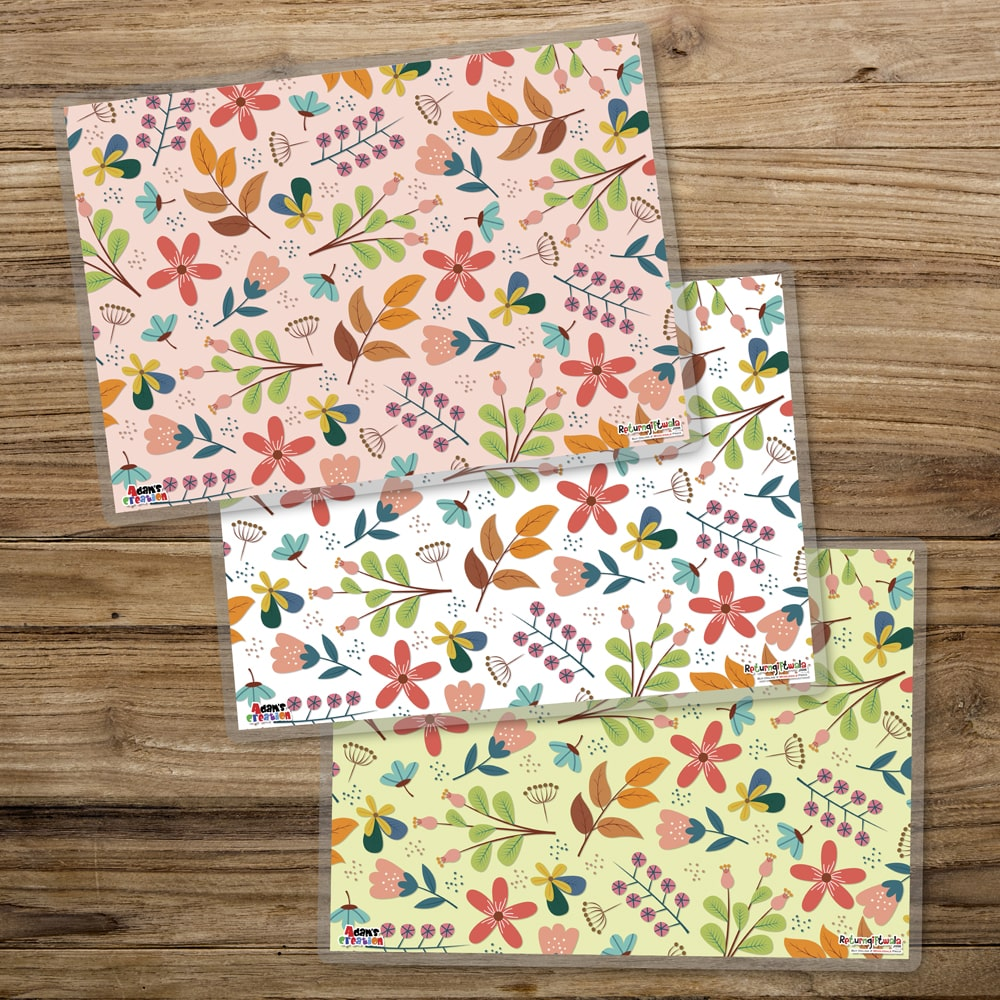 set of 3 flowery mats-min