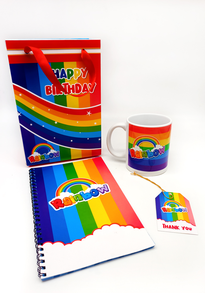 rainbow theme return gifts for kids combo