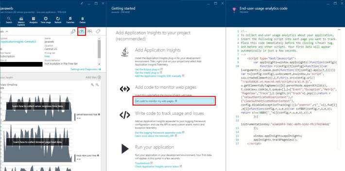 Application Insights - End-user usage analytics code