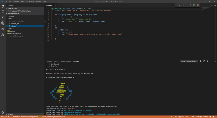 Azure Functions en Visual Studio Code