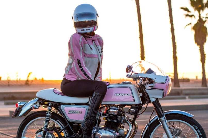 For My Wife Bebe Pink Honda Cb200t