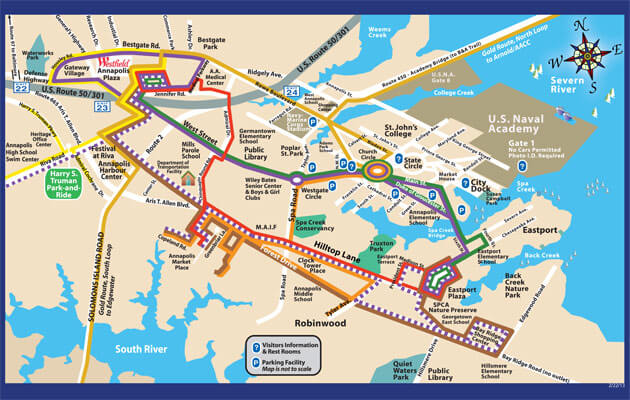 Image result for tourist map of annapolis md