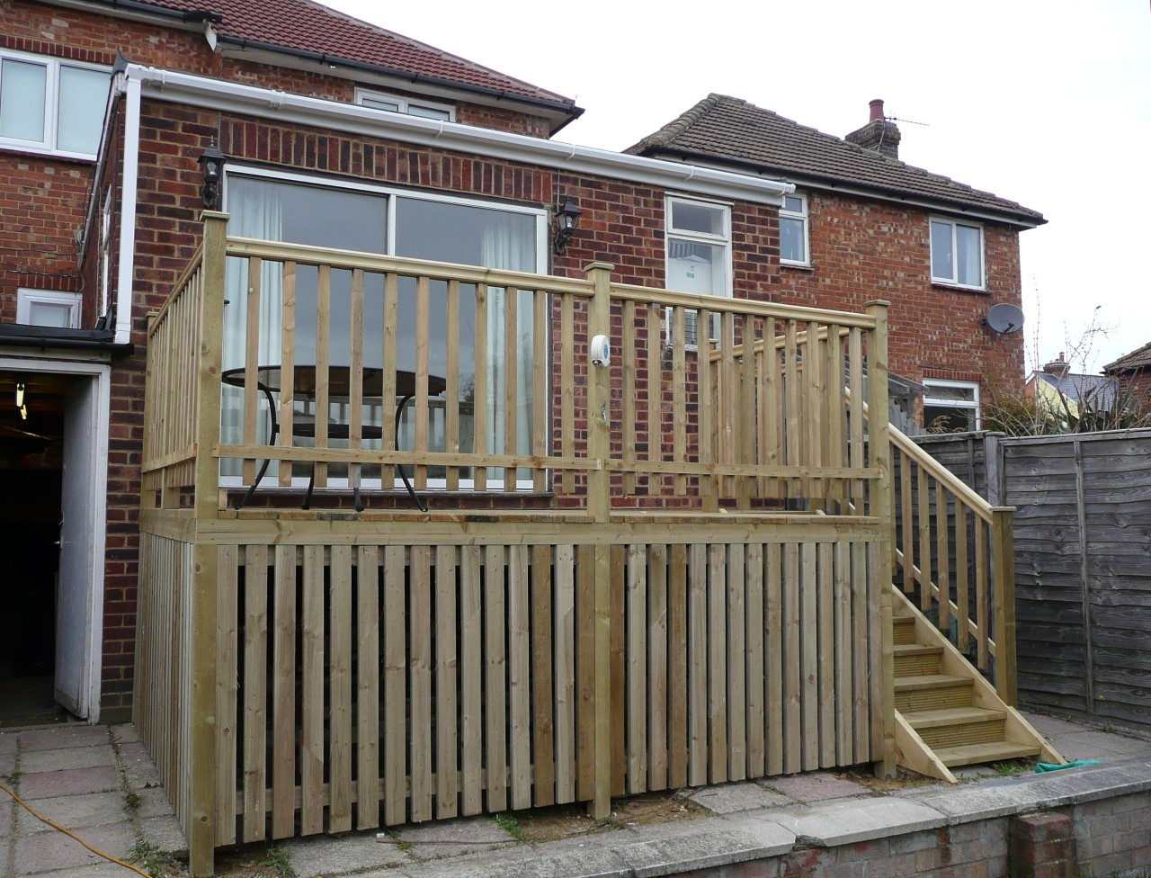 Epsom decking over a raised eyesore ashwell landscapes - How To Build A Raised Deck Help Ideas Diy At Bq