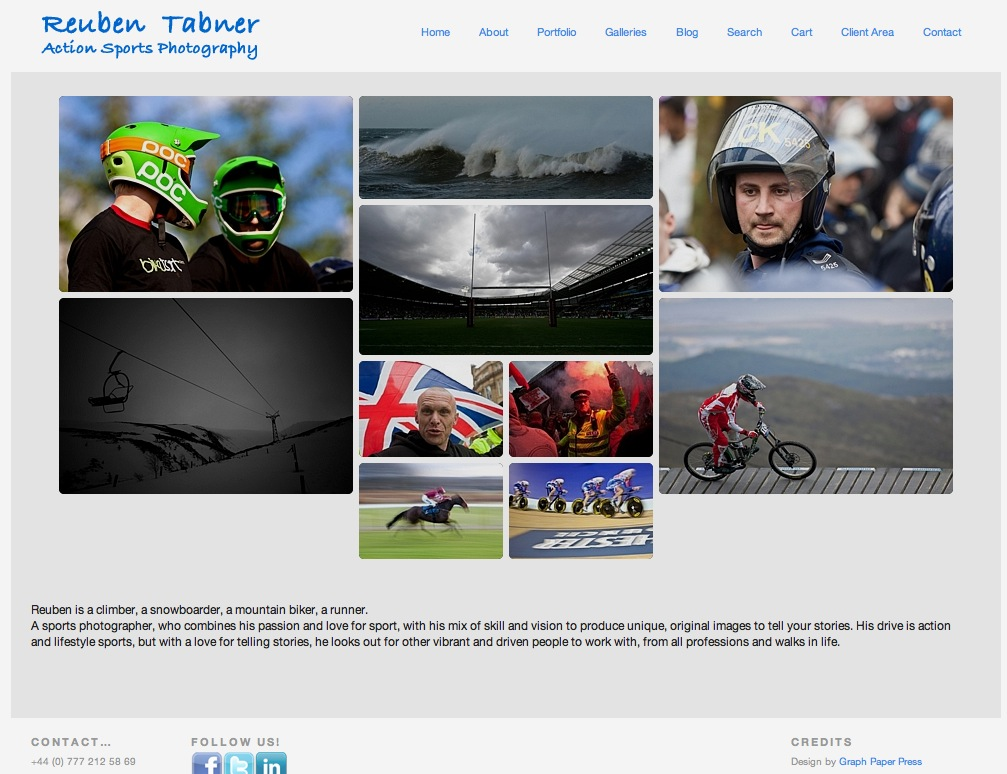 Website of Freelance Sports Photographer Reuben Tabner