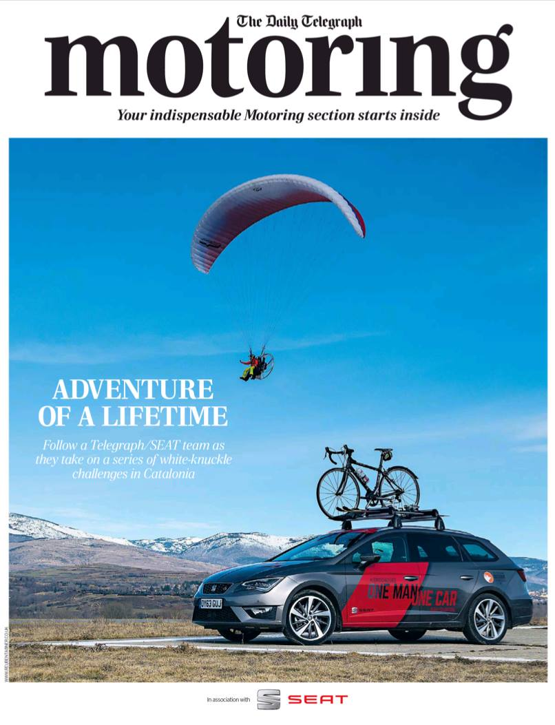 Front cover of the Saturday Telegraph Motoring section, image by Reuben Tabner