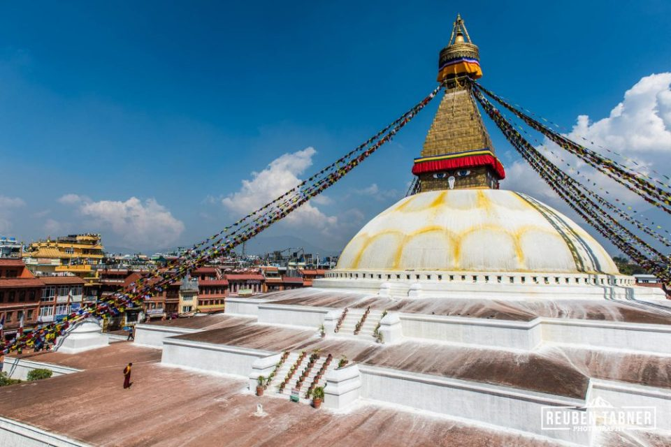 A moment of solitude at Boudhanath.
