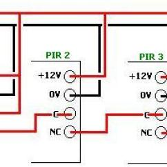 3 Switch Wiring Diagram Multiple Lights Jboss Architecture Pir Sensor Circuits Reuk Co Uk Connecting Sensors Together In Series