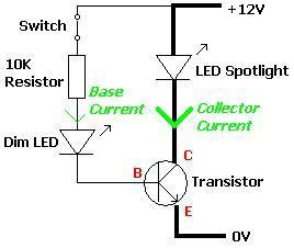 Example Transistor Circuit With LEDs REUK Co Uk