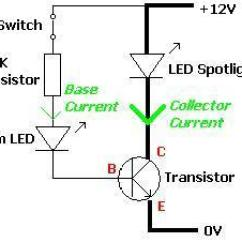 Transistor Wiring Diagram Motion Sensor Light Switch Example Circuit With Leds Reuk Co Uk