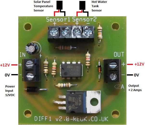 Solar Hot Water Panel Differential Pump Controller Loublet Schematic