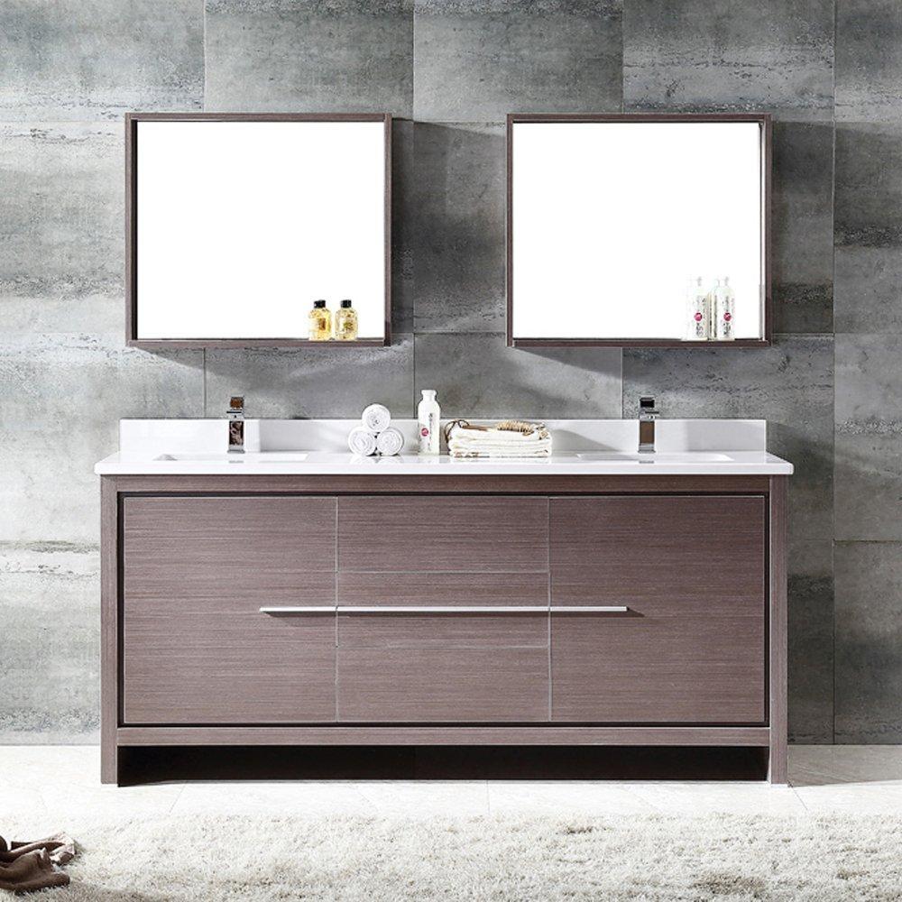 best bathroom vanities sinks and design ideas  reunited home  - fresca bath fvngo allier  modern double sink