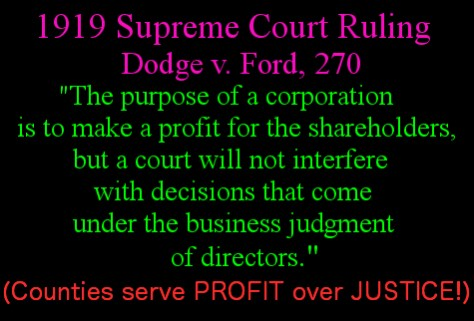 Dodge v Ford corporatiosn for profit