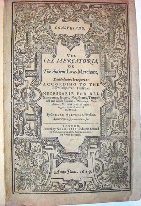 lex mercatoria book