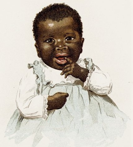 black baby picture reusableart