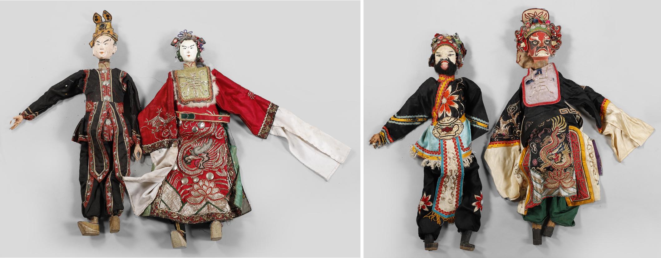 再生A-早期 嘉禮戲 傀偶 一大批 下拍前請至現場檢查 A Group of Vintage Traditional Taiwanese Puppets(RH-IEU13)RL