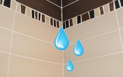 douche laisse passer l eau