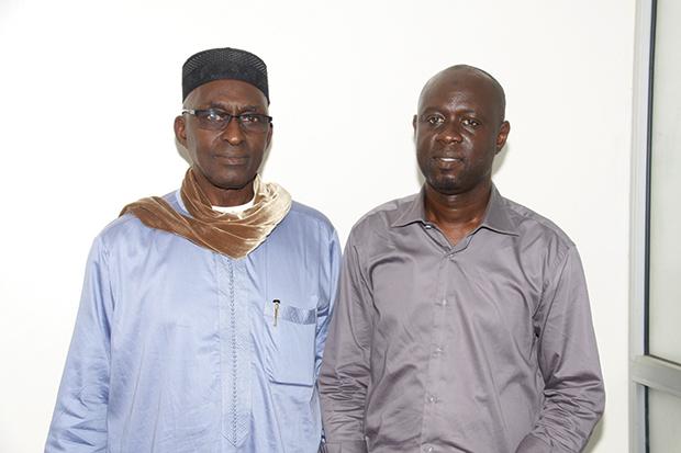 Amadou Diop Sylla Président de l'Association des Gérants des Stations Services et Ibrahima Fall, Secrétaire Général