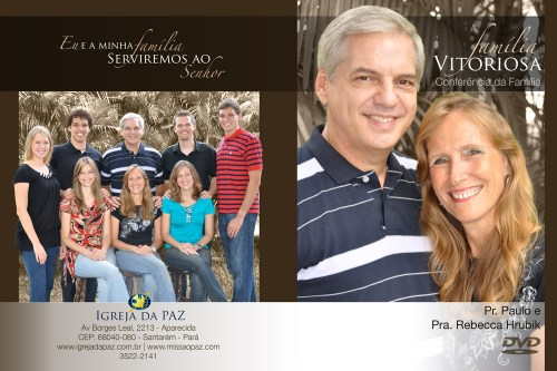 The Victorious Family Conference DVD cover (the front is on the right and the back is on the left, as if it were open