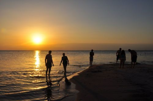 There's nothing like a sunset swim on the Tapajos