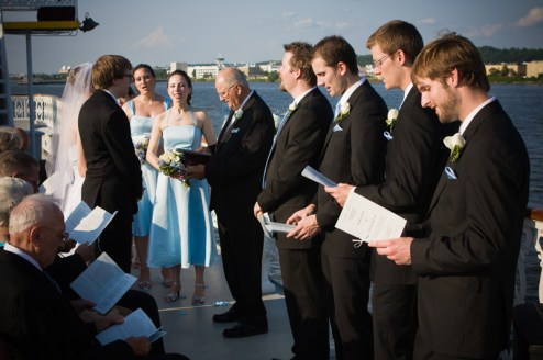 My brother's wedding was an unforgettable wedding: on a boat near Washington DC!