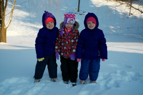 Rebecca and Anna go sledding for the first time with their cousin Sophie
