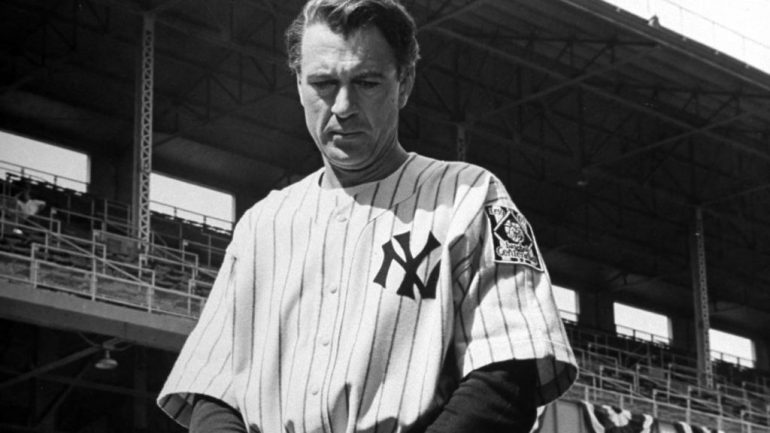 Lou Gehrig Gary Cooper