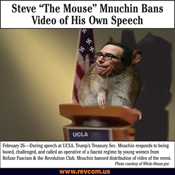 Steve 'the Mouse' Mnuchin Bans Video of his own speech