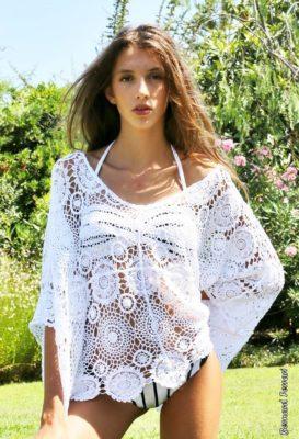 top crochet blanc