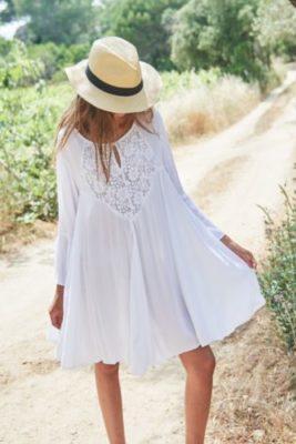 robe coton et dentelle
