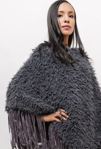 poncho gris anthracite