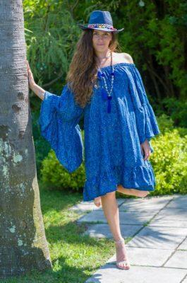 Robe tunique smokée