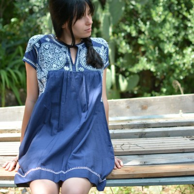 Petite robe courte coton