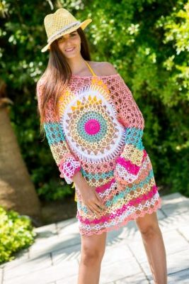 robe tunique hippie crochet