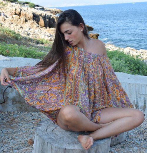 tunique motifs cachemire