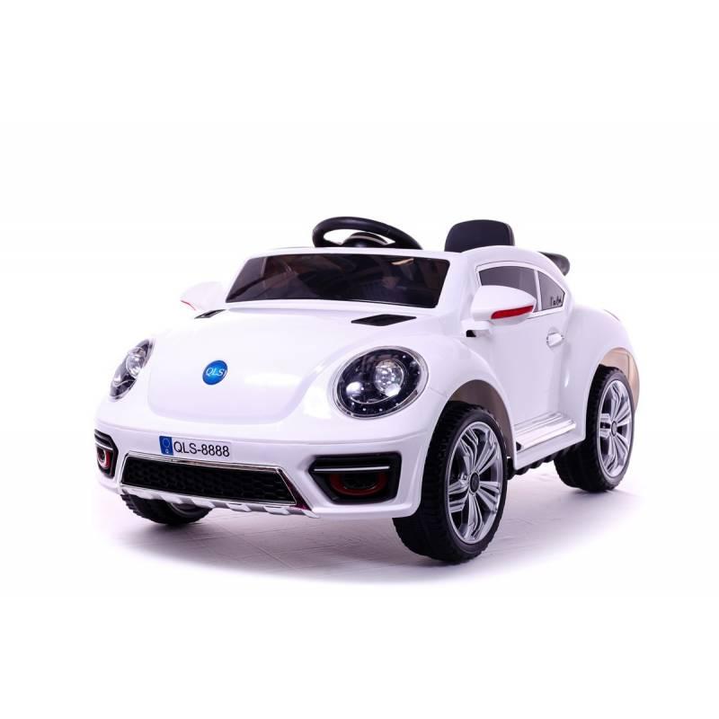 Voiture lectrique new beetle blanche  voiture 12v pour enfant