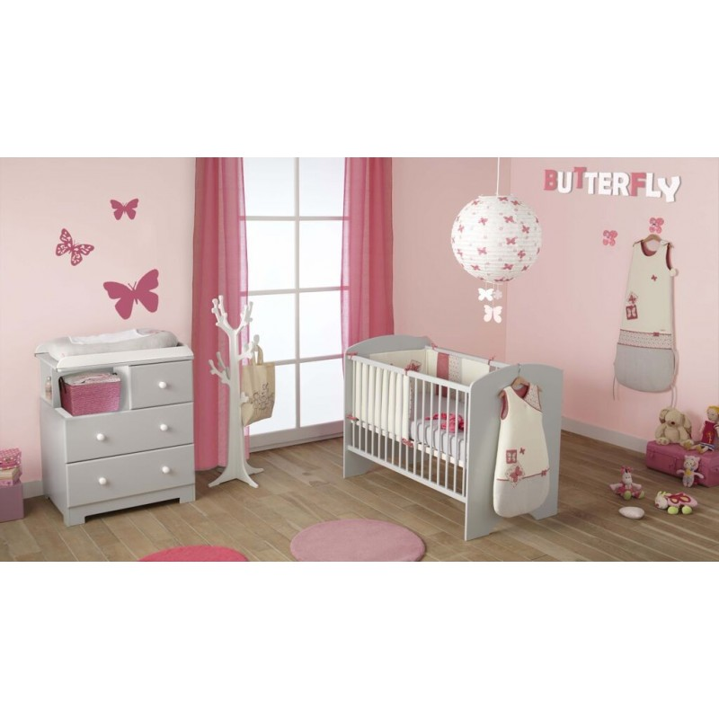 lit a barreaux pour bebe taupe sweety