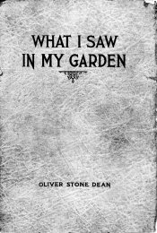 What I Saw In My Garden - book cover