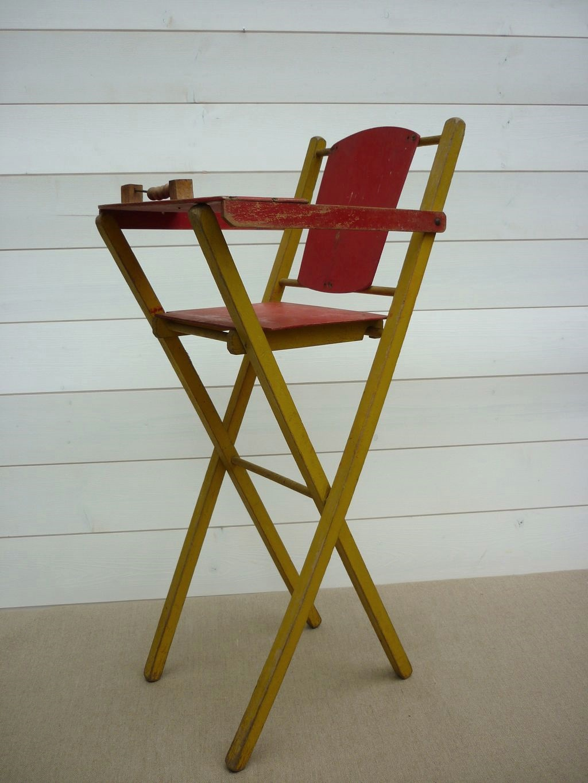 Petite Chaise Haute Pour Poupe Vintage Rve De Brocante