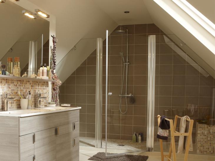 Salle de bains sous les combles  un espace de bientre  Rve de combles