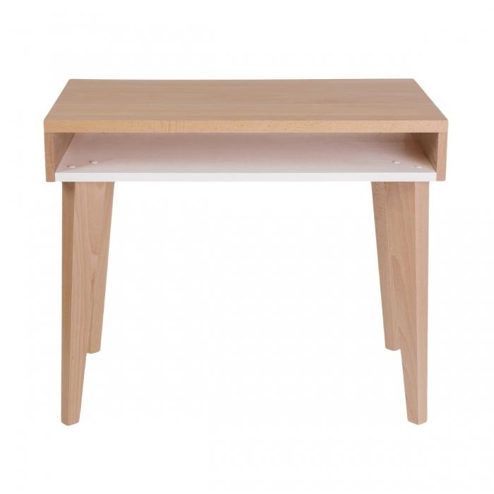 bureau enfant bois massif blanc