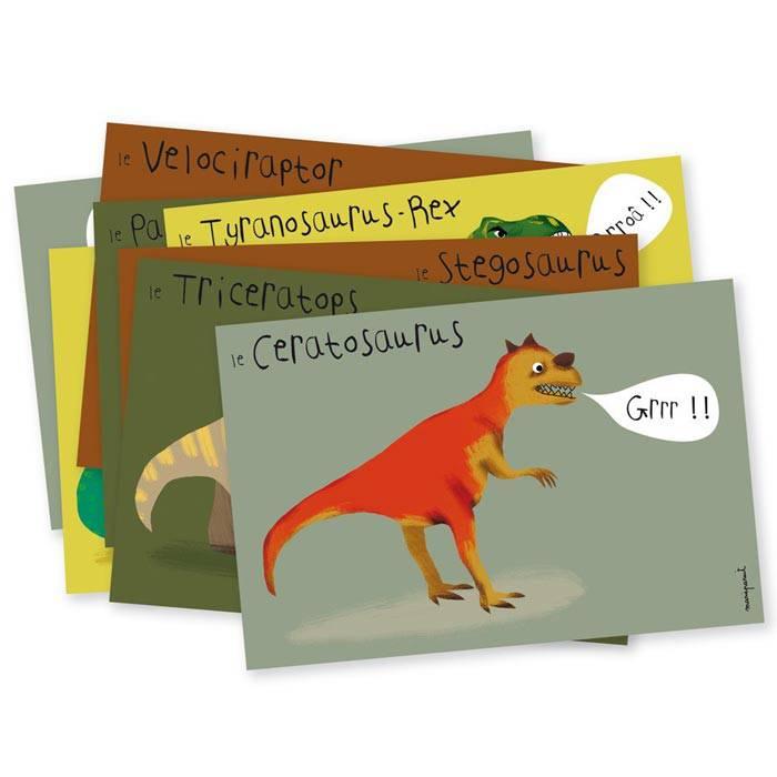 cartes d invitation dinosaures lot de 8
