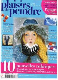 """""""Plaisir de peindre"""" n° 63 de nov.2016 (Démo en 3 versions d'un même portrait)"""