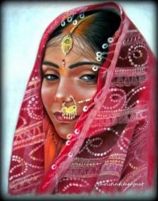 """Varanasi"" d'après une photo de Claude Raush DISPO"