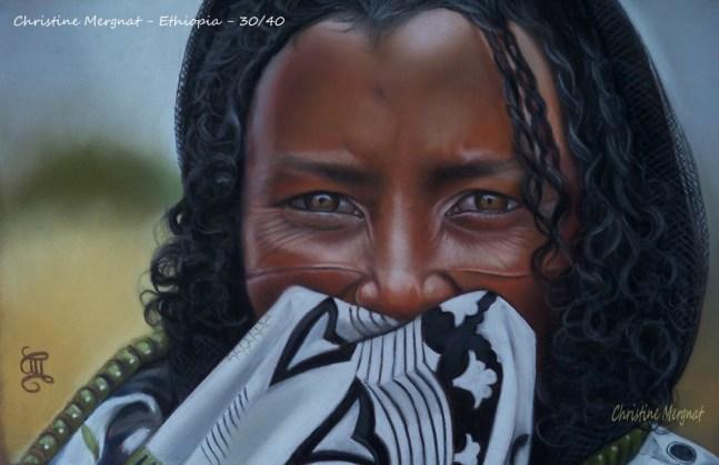 """""""Ethiopia"""" d'après une photo de Georges Vitton DISPO"""